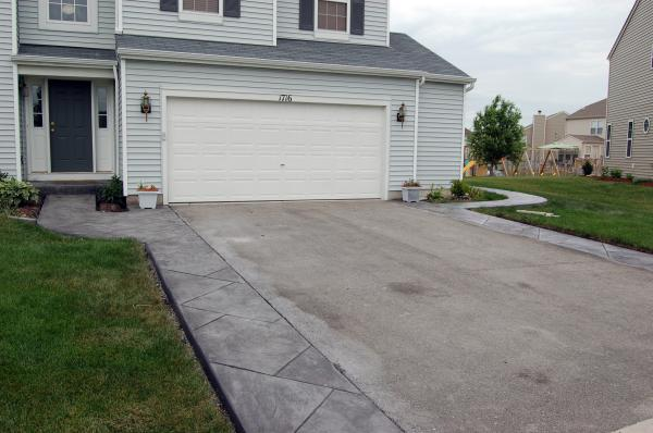 pictures ideas for your concrete patio or driveway above - Concrete Driveway Design Ideas
